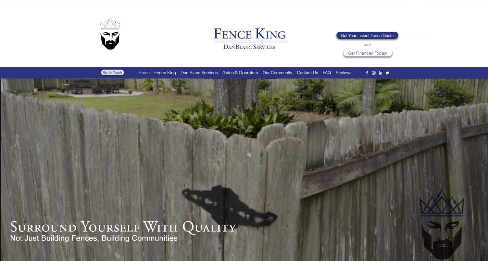 Fence King Website Before