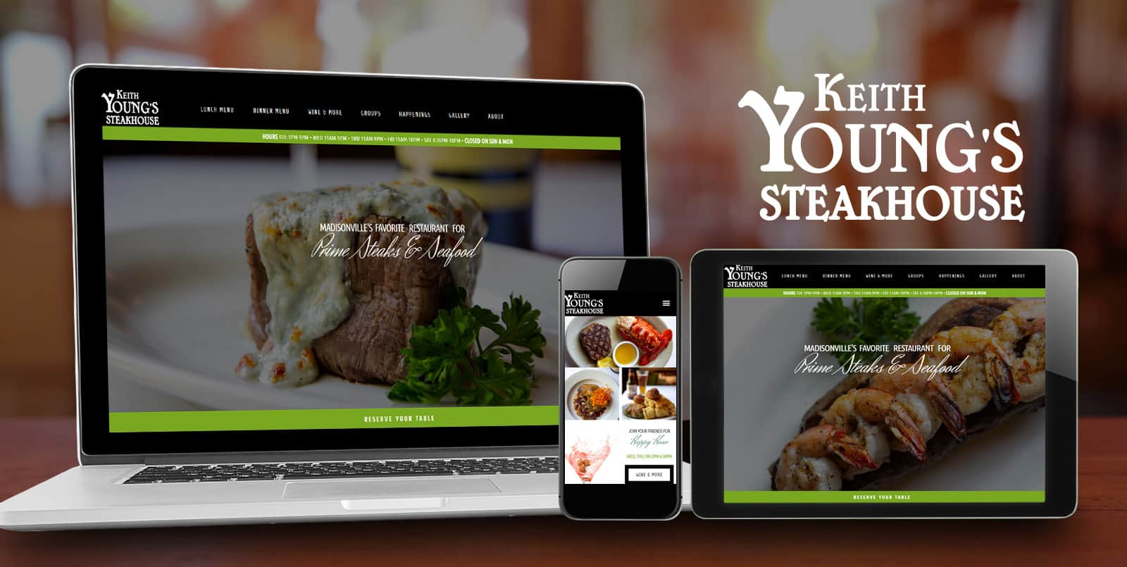 Madisonville Web Design | Keith Young's Steakhouse