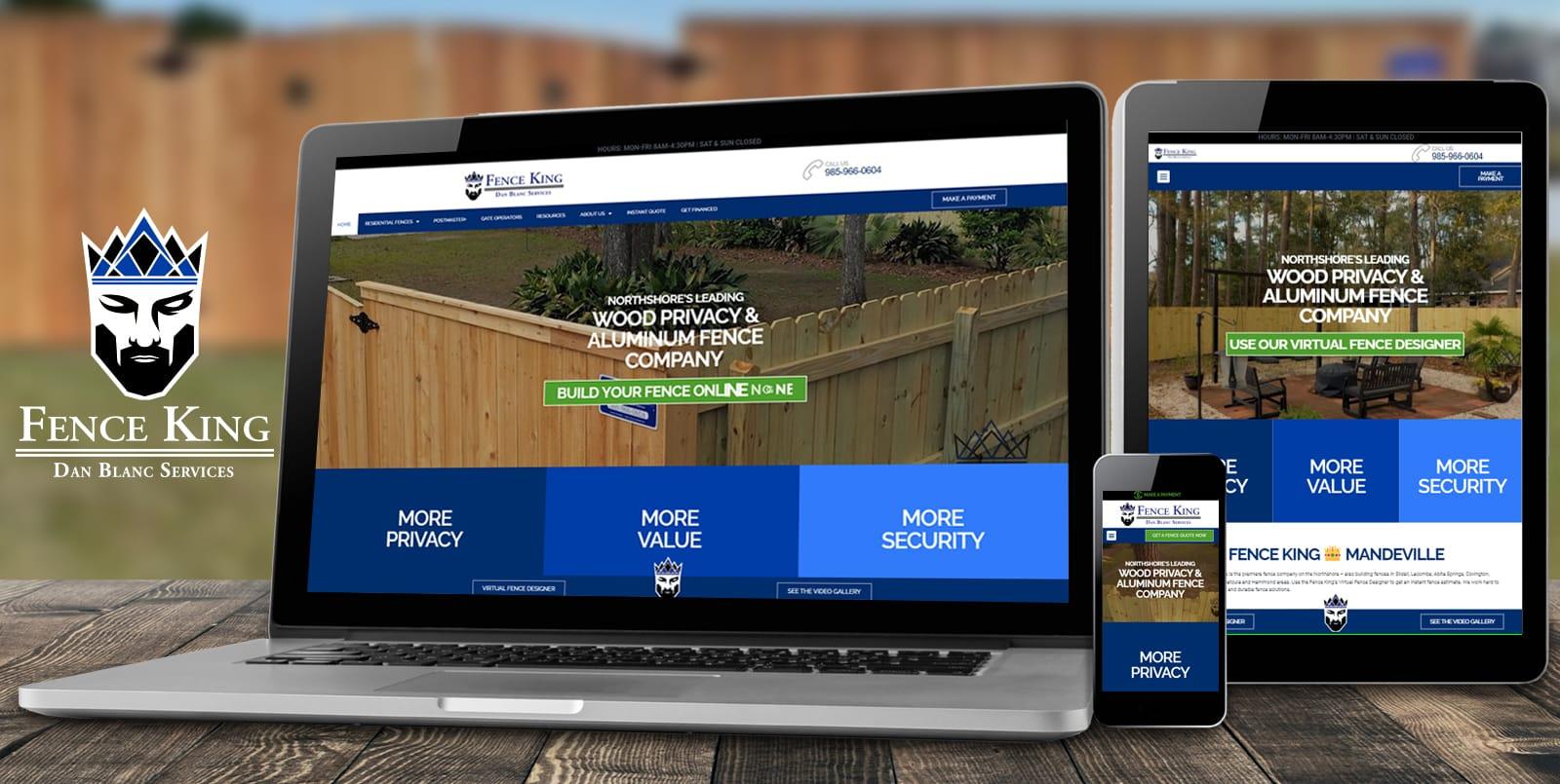 Mandeville Web Design   Fence King