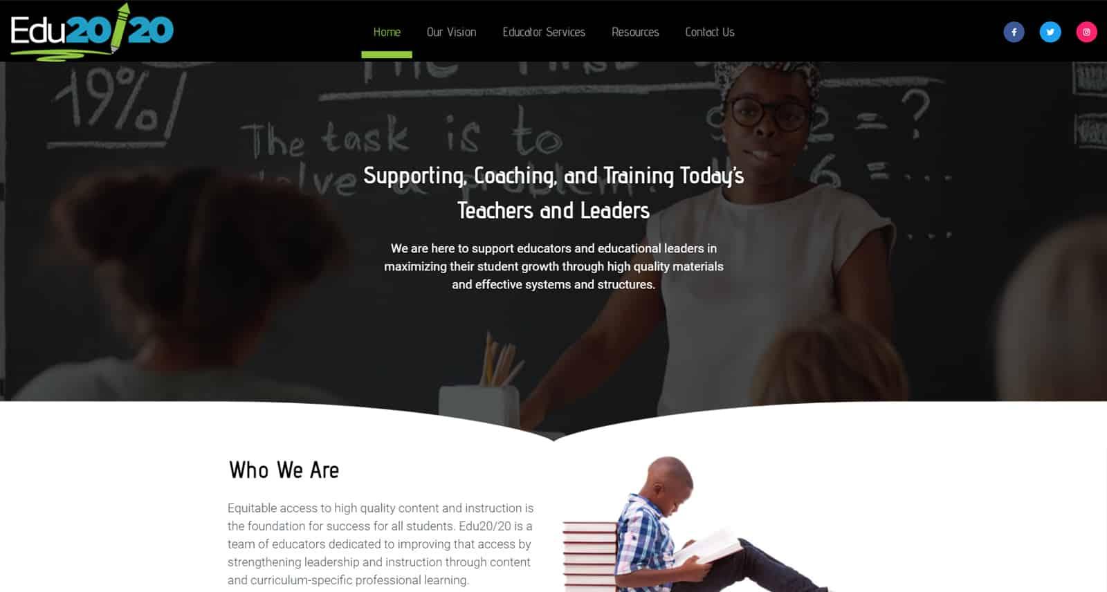 EDU20/20 Website After