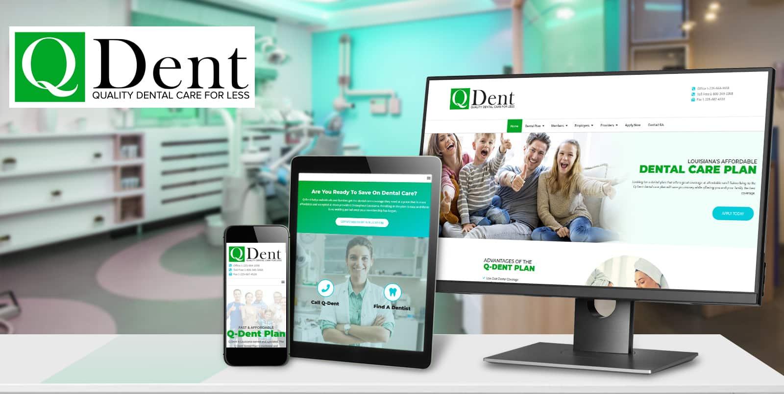 Denham Springs Dental Plan Website Design